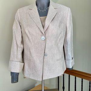 Talbots 3/4 sleeve dress blazer size 8 & 10